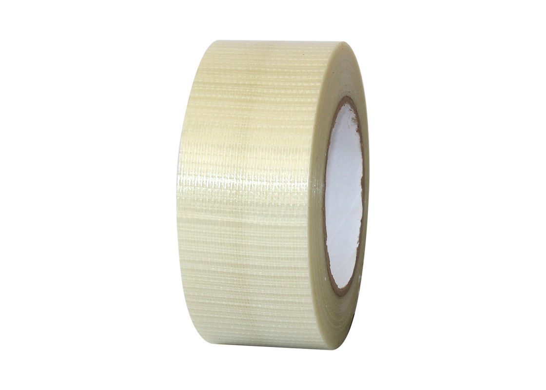 Waterproof Fiberglass Mesh Tape Carton Sealing PET Film With Glass Yarn